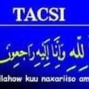 Tacsi: Xaaji Yuusuf Jaamac Ismaaciil (dafac)