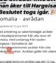 Daawo :- Xukuumada Sweden oo Xayiraadii Socdaalka Ka Qaaday Magaalada Hargeysa